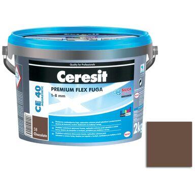 Fuga cementowa WODOODPORNA CE40  ciemny brąz  2 kg CERESIT