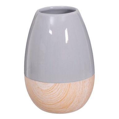 Wazon ceramiczny wys. 19 cm szaro-beżowy