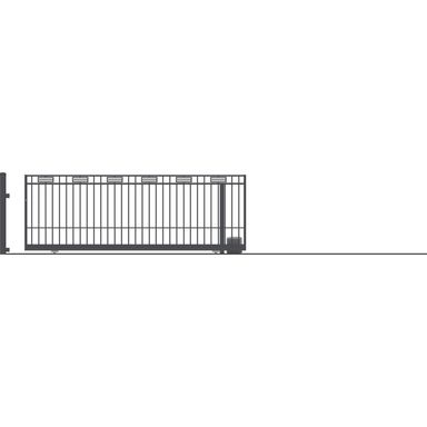 Brama przesuwna bez przeciwwagi z automatem ARGOS 2 400 x 152 cm prawa POLARGOS