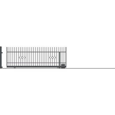 Brama przesuwna bez przeciwwagi z automatem LILA 430 x 152 cm Prawa POLARGOS