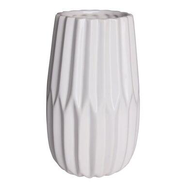 Wazon ceramiczny ONTARIO wys. 20 cm biały