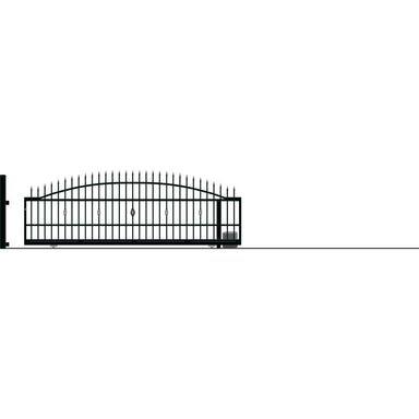 Brama przesuwna bez przeciwwagi z automatem BOLTON 430 x 152 cm Prawa POLARGOS