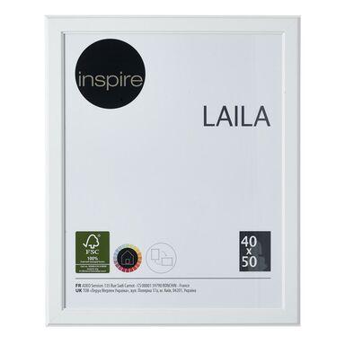 Ramka na zdjęcia LAILA 40 x 50 cm biała MDF INSPIRE