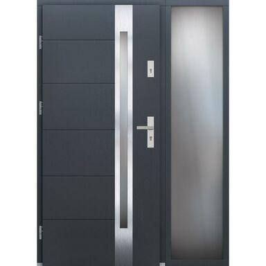 Drzwi wejściowe BELFORT Z DOSTAWKA PRZESZKLONA 90Lewe ELPREMA