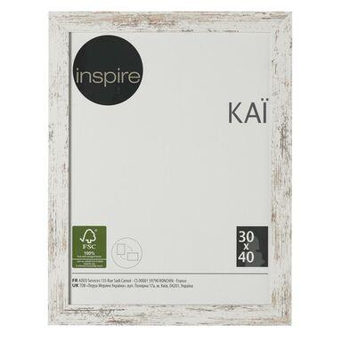 Ramka na zdjęcia Kai 30 x 40 cm biała shabby MDF Inspire