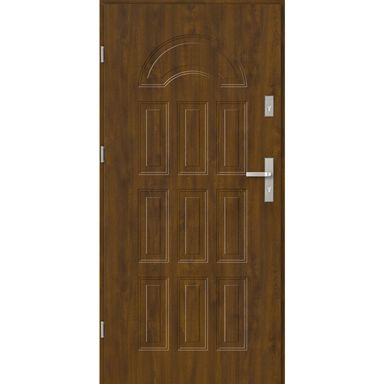 Drzwi zewnętrzne stalowe BOLONIA Złoty dąb 80 Lewe EVOLUTION