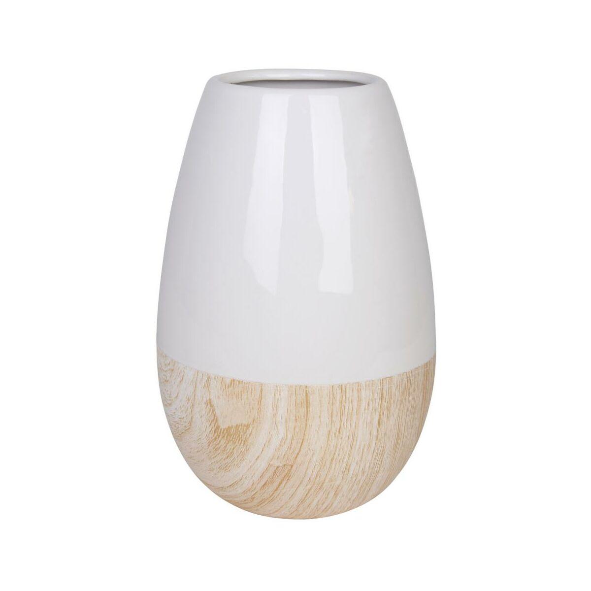 Wazon Ceramiczny Erie Wys 20 Cm Bialo Bezowy Wazony W Atrakcyjnej Cenie W Sklepach Leroy Merlin