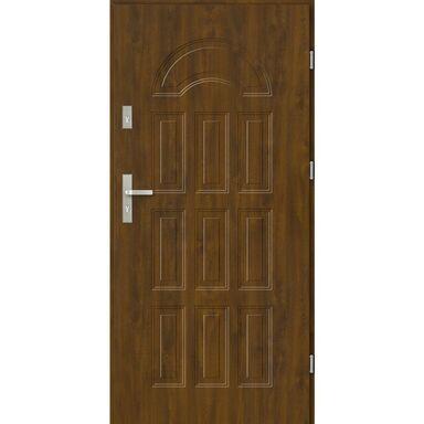 Drzwi zewnętrzne stalowe BOLONIA Złoty dąb 80 Prawe EVOLUTION