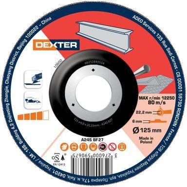 Tarcza do cięcia 125 x 6.0 x 22.23 STAL/INOX DEXTER