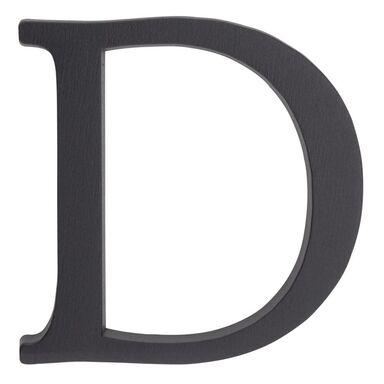 Litera D wys. 10.5 cm aluminiowa grafitowa