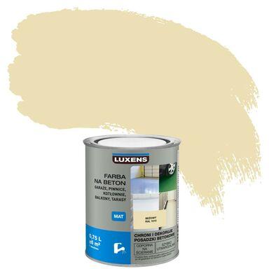 Farba do podłóg NA BETON 0.75 l Beżowy Mat LUXENS