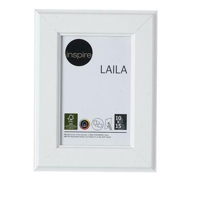 Ramka na zdjęcia LAILA 10 x 15 cm biała MDF INSPIRE