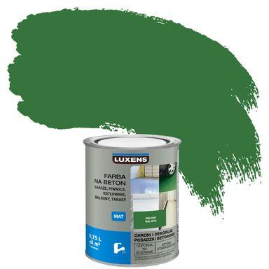 Farba do podłóg NA BETON 0.75 l Zielony Mat LUXENS