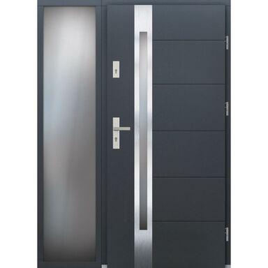 Drzwi wejściowe BELFORT Z DOSTAWKA PRZESZKLONA 90Prawe ELPREMA