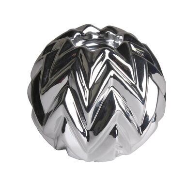 Świecznik ceramiczny HURON wys. 11.3 cm srebrny