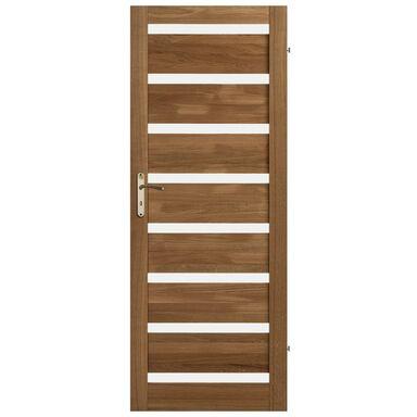 Skrzydło drzwiowe drewniane pokojowe Oktawa Dąb olejowany 70 Prawe Kornik