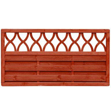 Płot szczelny z dekorem 180x90 cm drewniany WIEN WERTH-HOLZ