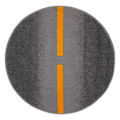 Dywan okrągły TIKKO stalowo-żółty śr. 100 cm