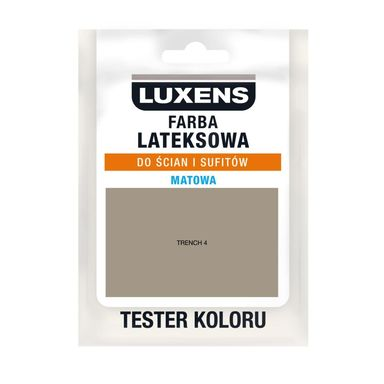 Tester farby LATEKSOWA 25 ml Trench 4 LUXENS