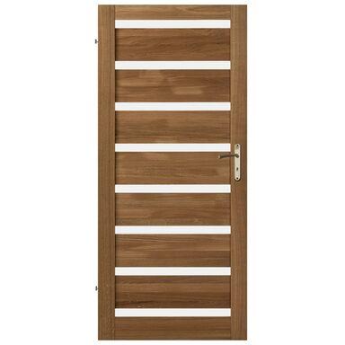 Skrzydło drzwiowe pokojowe drewniane OKTAWA Dąb olejowany 90 Lewe KORNIK
