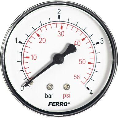 Manometr M63 R 0 - 4 BAR POZIOMY FERRO
