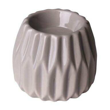 Świecznik ceramiczny ONTARIO wys. 4.5 cm szary