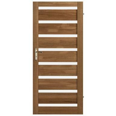 Skrzydło drzwiowe drewniane pokojowe Oktawa Dąb olejowany 90 Prawe Kornik