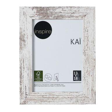 Ramka na zdjęcia Kai 13 x 18 cm biała shabby MDF Inspire