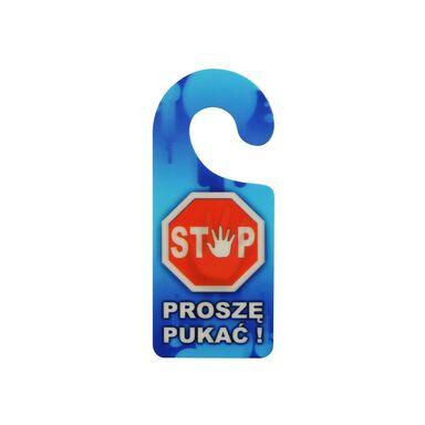 Zawieszka na klamkę STOP! PROSZĘ PUKAĆ  8 x 19 cm