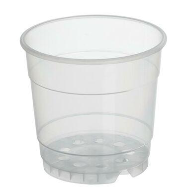 Doniczka plastikowa 12 cm bezbarwna TRANSPARENTNA 0,7 L RIM KOWALCZYK