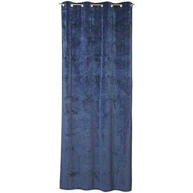 Zasłona TONY ciemnoniebieska 140 x 280 cm na przelotkach INSPIRE