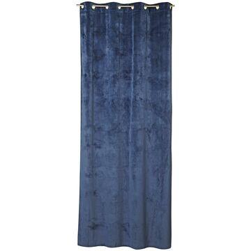 Zasłona welurowa Tony ciemnoniebieska 140 x 280 cm na przelotkach Inspire
