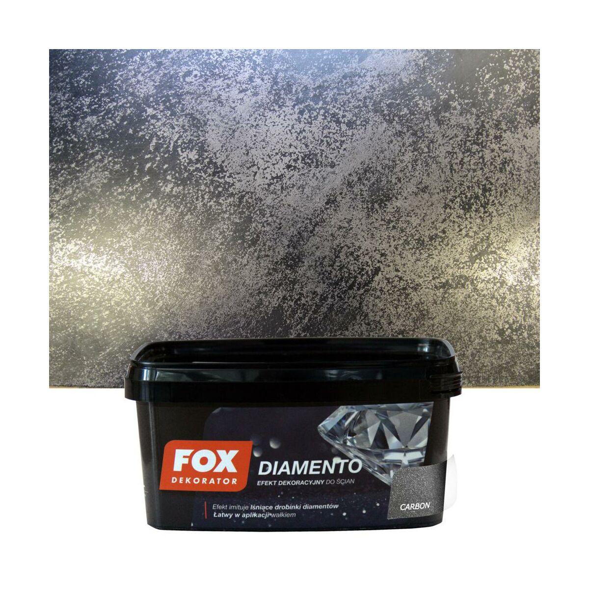 Farba Dekoracyjna Diamento Czarny Brokatowy Fox