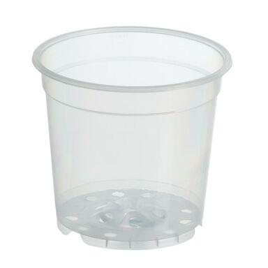 Doniczka plastikowa 15 cm bezbarwna TRANSPARENTNA