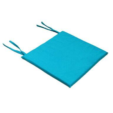 Poduszka na krzesło Mia niebieska 40 x 40 x 2 cm