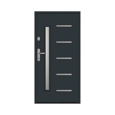Drzwi zewnętrzne stalowe antywłamaniowe RC2 Waterloo 90 prawe antracyt Loxa