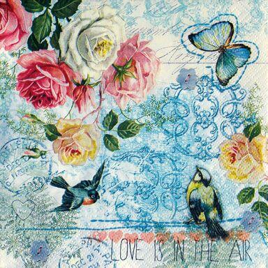 Serwetki LOVE IS IN THE AIR 33 x 33 cm 20 szt.