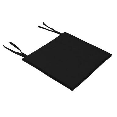 Poduszka na krzesło Mia czarna 40 x 40 x 2 cm